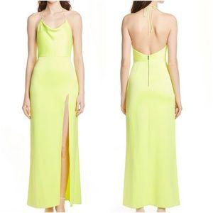 Alice & Olivia Eliza Cowl Neck High Slit Dress 2